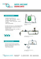 water- and steam dosing units Download