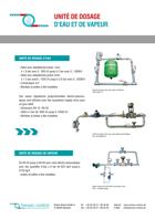 Unité de dosage d'eau et de vapeur Download
