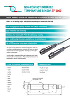 Download flyer | optical sensors | Capteurs optiques TF 2000