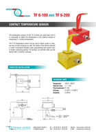 Download flyer PT 100 Sensores - Sensor de temperatura TF6-100 / TF6-200