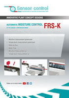 automatic moisture control AT THE COOLER / CONTINUOUS MIXER FRS-K Download