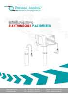 Plastometer Operating instructions
