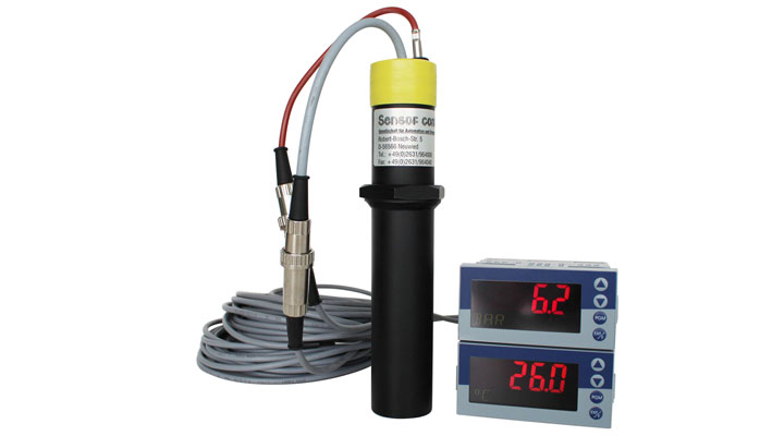 Plastometer mit zwei externen Anzeigen_Druck/Temperatur